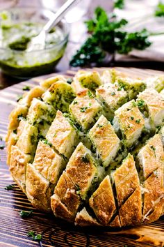 Cheesy Pull Apart Pesto Bread - 14 Types of Make Ahead Appetizers Ideal for Every Get Together