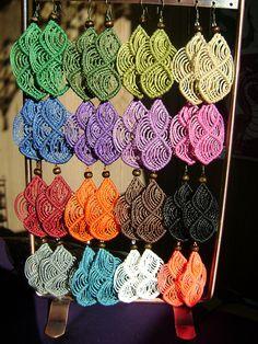 Aros de colores! by ArtesaniA MacramE :), via Flickr