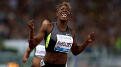 Après s'être qualifiée en 2012 pour les finales olympiques du 100 m et du 200 m à Londres, Murielle Ahouré espère monter sur le podium mondial à Moscou. Sensation de la saison, la sprinteuse ivoirienne fait peur aux plus grandes championnes.