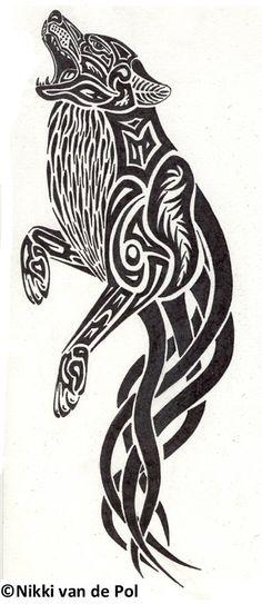 Wolf Spirit Tattoo by Nikki-vdp.deviantart.com on @deviantART