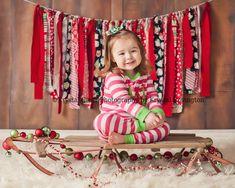 Christmas photography  toddler christmas pj's  sled  Krystal Clear Photography by Krystal Covington