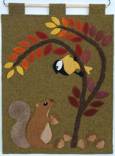 Wool applique PATTERN Chirp & Chatter by HorseAndBuggyCountry