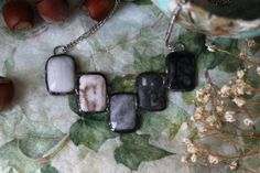 Necklace Wolf rain Jasper agate tin  silver от ArtLadyShop на Etsy,