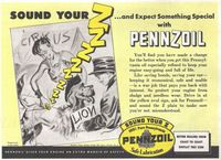 Pennzoil Safe Lubrication 1945 Ad Picture