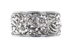 VINTAGE KIRK & SON FLORAL REPOUSSE CUFF BANGLE BRACELET STERLING SILVER c1940's | Jewelry & Watches, Vintage & Antique Jewelry, Fine | eBay!