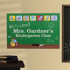 Great idea for teachers! It's the Little Learners' Classroom© Personalized Poster from PMall - so cute! The poster comes in 3 sizes Large ($19.95), Medium ($14.95) and Small ($9.95) and you can personalize it with your name and class name ...  what a deal! It'll save teachers a bunch of time and money and will look great - especially on the first day of school! #Teacher #School