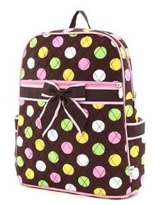 3c6ed352139 Belvah Large Quilted Polka Dot Backpack - Choice of Colors.  29.95 This  backpack is so CUTE and FUN!! It can be used as a school backpack