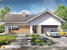 Dom w przebiśniegach 9 Architectural Design House Plans, Architecture Design, Pergola, Garage Doors, Shed, Outdoor Structures, House Design, How To Plan, Outdoor Decor