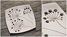 "Anna Bielawska - ceramika SHE ażurowy talerz ""Dmuchawce"" www.polandhandmade.pl #polandhandmade #ceramics #ceramikaSHE"