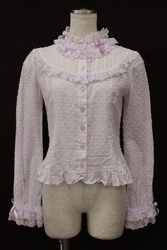 Angelic Pretty / dot ribbon lace blouse - closet child online shop