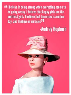 The fabulous and always classy, Audrey Hepburn