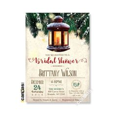 Christmas Bridal Shower Invitation, Holiday Bridal Shower Invitations, Bridesmaids Brunch, Winter Wonderland, Engagement Party 92 by on Etsy Bridesmaid Brunch, Bridesmaids, Christmas Bridal Showers, Bridal Shower Invitations, Winter Wonderland, Rsvp, Engagement, Holiday, Party