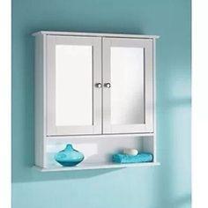 Nuevo-cuarto-de-bano-doble-puerta-de-gabinete-y-Estante-Bano-Espejo-Mueble-De-Pared