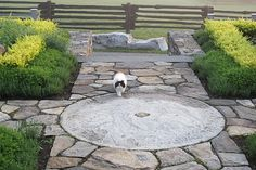 Incorporating a millstone in the landscape