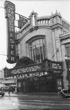 Loew's Rochester Theater in Rochester, NY - Opened on Clinton Avenue in 1929, was demolished in 1964 to make way for the Xerox tower.