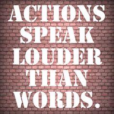 Taten sagen eben mehr als Worte