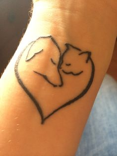 My tattoo. Slightly altered from the original I saw, to look more like a Jack Russell Terrier :) love it so much!
