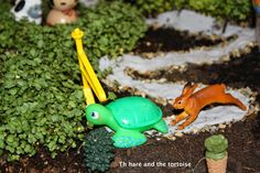 Hare and the tortoise decorations