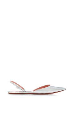Metallic-Leather Pointed-Toe Flats by Rochas