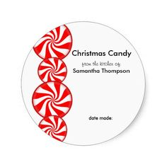 Peppermint Candy Custom Stickers