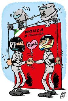 Lewis Hamilton and Nico Rosberg by Cirebox