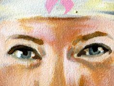 The eyes have it: Wonder Woman Katy's eyes