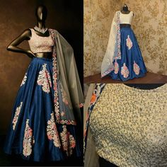 Features Dove blue multi thread work raw silk lehenga choli & dupatta set. (15 METER FLAIR)  Product Info : Size : Free Color : Dove Blue Fabric : Raw silk Type : Embroidered Occasion : Festive Wedding Ceremony. Neck Type : Round Neck Sleeve Type : Sleeveless  Sale Price : 4200 INR Only ! #Booknow  CASH ON DELIVERY Available In India ! World Wide Shipping !  For orders / enquiry  WhatsApp @ 91-9054562754 Or Inbox Us  Worldwide Shipping !  #SHOPNOW  #indianwear #ethnicwear #fashion #style…