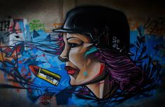 Woman graffiti