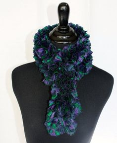 Ruffle Sparkle scarves three colors by UniquePhillyGifts4U on Etsy, $25.00