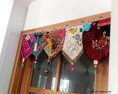 Best 12 Pelmet Door or Window Wall Decor Toran Vintage Textiles Boho Diy, Bohemian Decor, Bohemian Kitchen, Rideaux Boho, Cortinas Boho, Indian Doors, Window Wall Decor, Nursery Bunting, Bohemian Curtains