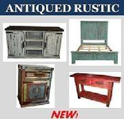 Antique Red Nevada Bed Set Rustic Furniture Depot Www.rusticfurnituredepot. Com 11901 US Hwy 380 Crossroads TX 76227 940 440 0455 | Rustic Bedroom ...