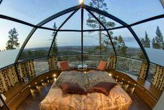Descubre Tu Mundo : Destino: «Hotel Kakslauttanen» Finlandia, auroras boreales desde el interior de su habitación