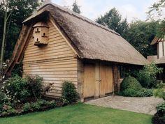 Garages and Carports - Border Oak - oak framed houses, oak framed garages and structures. Border Oak, Oak Framed Buildings, Oak Frame House, Thatched Roof, Breezeway, Grand Designs, Garages, House Plans, Cottage