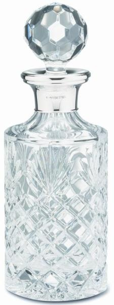 Sterling Silver and Crystal Round Spirit Decanter