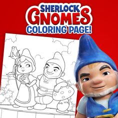 Click to download this #SherlockGnomes coloring page featuring Gnomeo and Juliet!