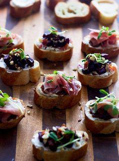 Italian Appetizer Recipes | POPSUGAR Food Photo 20 - Goat Cheese and Prosciutto Crostini