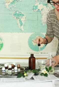 I'm not hugely into perfume but this looks like fun... Homemade Eau de Perfume | Design*Sponge