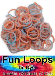 Tie Dye Rubber Band Looms Refill (Red/Blue)