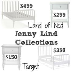 Decor Look Alikes | Land of Nod Jenny Lind Collection retails for $299-$499 vs $150-$350 @target