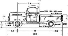1950 Ford F1 Size Chart