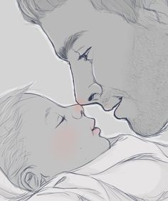 """""""Hi, little princess."""" Cullen and daughter (i just swooned a little too hard)"""