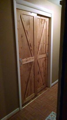 Pine closet doors