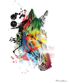 Horse On Abstract  2 Painting  - Horse On Abstract  2 Fine Art Print