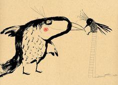 Title unknown by Spanish artist & illustrator Raul Nieto Guridi (b.1970). via the art room plant