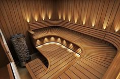 Of all the facilities you can use in a spa, the most popular one has to be a sauna. Saunas, Diy Sauna, Sauna Ideas, Sauna Steam Room, Sauna Room, Spa Interior, Interior Design, Interior Garden, Sauna Wellness