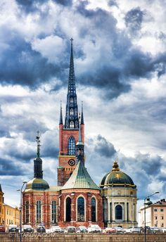 The Riddarholmen Church is one of the oldest buildings in Stockholm, Sweden. It is located on island close to the Royal Palace and Gamla Stan, the old town of Stockholm.