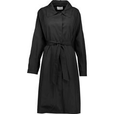 ISABEL MARANT ETOILE Ayre belted gabardine trench coat ($680) ❤ liked on Polyvore featuring outerwear and coats