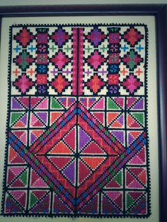 Palestinian cross stitch, beautiful colors