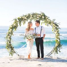 Wedding Inspiration  An intimate coastal elopement with a barefoot beach bride in an