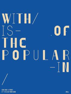 The typeface is inspired in Cordoba's architectural diversity, the customs, the music and the people that live in the city. As Córdoba is in the middle of Argentina, it is nourished by the social a…